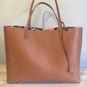 Handbags - Tan/Brown Chic Tote Bag